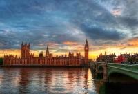 Лондон. Биг-Бен на закате